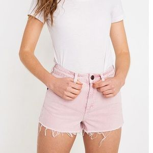 NWT BDG Urban Outfitters Denim Mom Shorts Pink 28